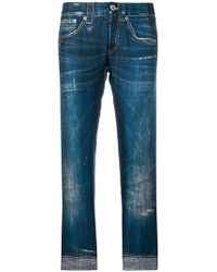 Dondup - Cropped Trompe L'oeil Trousers - Lyst