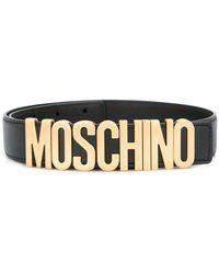 Moschino - Logo Plaque Belt - Lyst