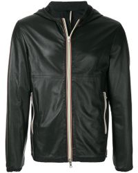 Low Brand - Hooded Leather Jacket - Lyst