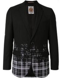 Education From Young Machines - Faded Pattern Blazer - Lyst
