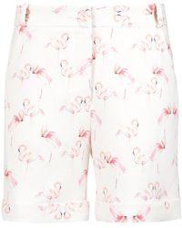 Olympiah | Flamingo Print Tailored Shorts | Lyst