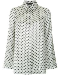 Andrea Marques - Printed Bell Sleeves Shirt - Lyst