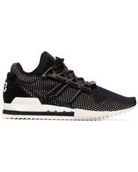 117333f45 Y-3 - Black Harigane Leather Sneakers - Lyst