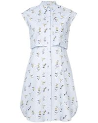 Carolina Herrera | Hummingbird Shirt Dress | Lyst