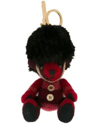 Burberry - The Guardsman Thomas Bear Charm In Check Cashmere - Lyst