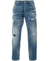 Dondup - Distressed Cropped Jeans - Lyst