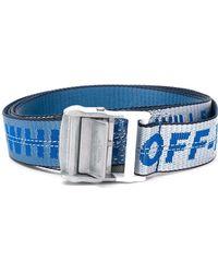 Off-White c/o Virgil Abloh Riem Met Logo - Blauw