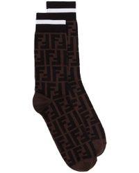 Fendi - Calcetines stretch con logo - Lyst