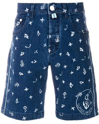 Jacob Cohen | Nautical Printed Denim Shorts | Lyst