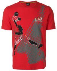 EA7 - Basketball T-shirt - Lyst