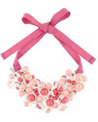 P.A.R.O.S.H. - Floral Motif Necklace - Lyst