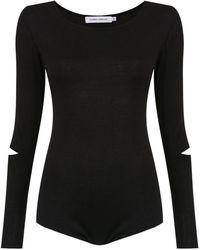 Gloria Coelho - Long Sleeves Knit Bodysuit - Lyst