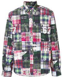 Ralph Lauren - Hemd im Patchwork-Design - Lyst