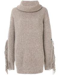 Stella McCartney - Fringe Sleeve Sweater - Lyst