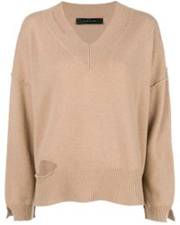 FEDERICA TOSI - Cut-detail Flared Sweater - Lyst