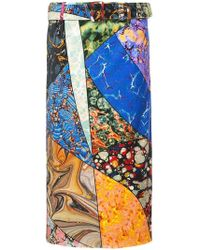Rosie Assoulin - Belted Patchwork Skirt - Lyst