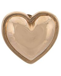 Alison Lou - 14kt Yellow Gold Heart Stud - Lyst