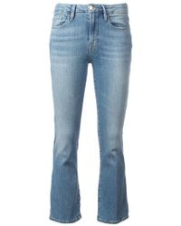 FRAME - Le Crop Mini Squire Jeans - Lyst