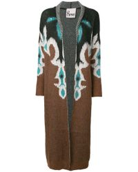 8pm - Long Printed Cardigan - Lyst