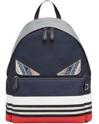 Fendi - Color Block Appliqué Backpack - Lyst