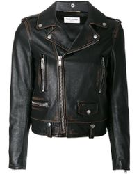 Saint Laurent - Classic Bouche Motorcycle Jacket - Lyst