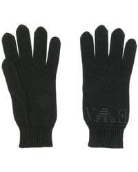 Emporio Armani - Rhinestone Logo Knitted Gloves - Lyst