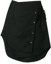 Ann Demeulemeester Blanche - Asymmetric Wrap Skirt - Lyst