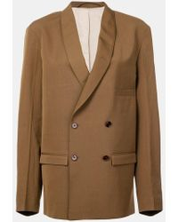 Lemaire - Double-breasted Blazer Jacket - Lyst