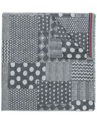 Paul Smith - Mixed Jacquard Pattern Scarf - Lyst