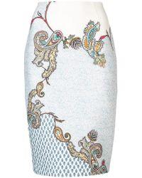 Yigal Azrouël - Paisley Print Skirt - Lyst