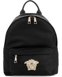 07d3c2d849 Lyst - Versace Black Mini Medusa Palazzo Backpack in Black