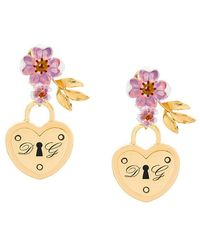 Dolce & Gabbana - Locket Drop Earrings - Lyst