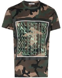 fe18121bb Lyst - Valentino Camouflage T-shirt in Green for Men