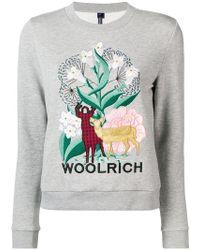 Woolrich - Embroidered Design Sweatshirt - Lyst