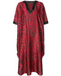 Josie Natori - Embroidered Pagoda Caftan - Lyst