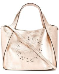 443e618dce Stella Mccartney Stella Logo Tote in Gray - Lyst