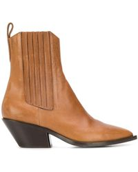A.F.Vandevorst - Cuban Heel Ankle Boots - Lyst