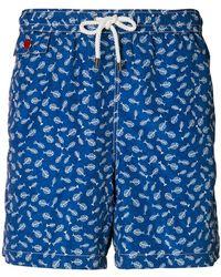 Kiton - Fishbone Print Swim Shorts - Lyst