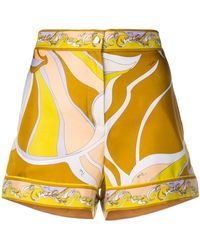 Emilio Pucci - Rivera Print Silk-twill Shorts - Lyst
