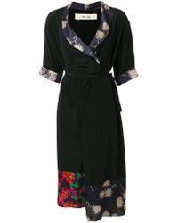 Damir Doma - Printed-panel Wrap Midi Dress - Lyst