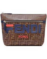 Fendi - Double F Logo Clutch Bag - Lyst