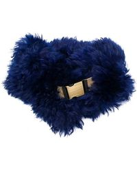 Mr & Mrs Italy - Belted Fur Collar - Lyst
