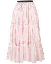 TOME - Long Tiered Skirt - Lyst
