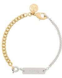 A.P.C. - Two-chain Bracelet - Lyst