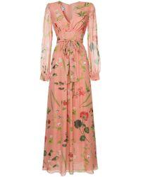 Oscar de la Renta - Vestido de noche con estampado botánico - Lyst