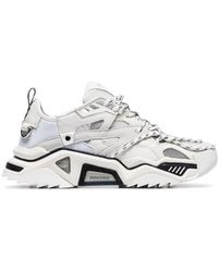 CALVIN KLEIN 205W39NYC White Strike Low-top Leather Sneakers