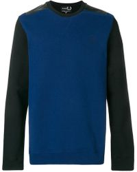 Fred Perry - Two Tone Sweatshirt - Lyst