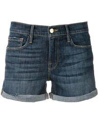 FRAME - Denim Short Shorts - Lyst