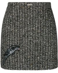 John Richmond - Bird Embroidered Skirt - Lyst