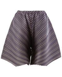 Pleats Please Issey Miyake - Diagonal Pleat Shorts - Lyst
